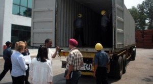 Blue Star and OOCL (Orient Overseas Container Lines) staff were trained to properly inspect containers for hidden compartments and other potential security breaches.