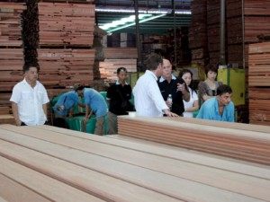 Keruing truck decking for the U.S., Europe, and various Asian markets is a mainstay of our production